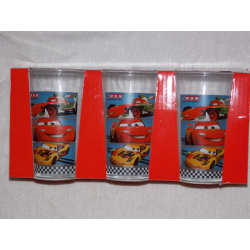 Lot de 3 verre disney Cars...
