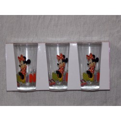 Lot de 3 verre Minnie